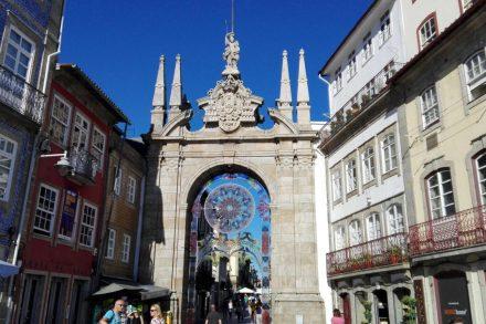 Cidade de Braga durante o dia