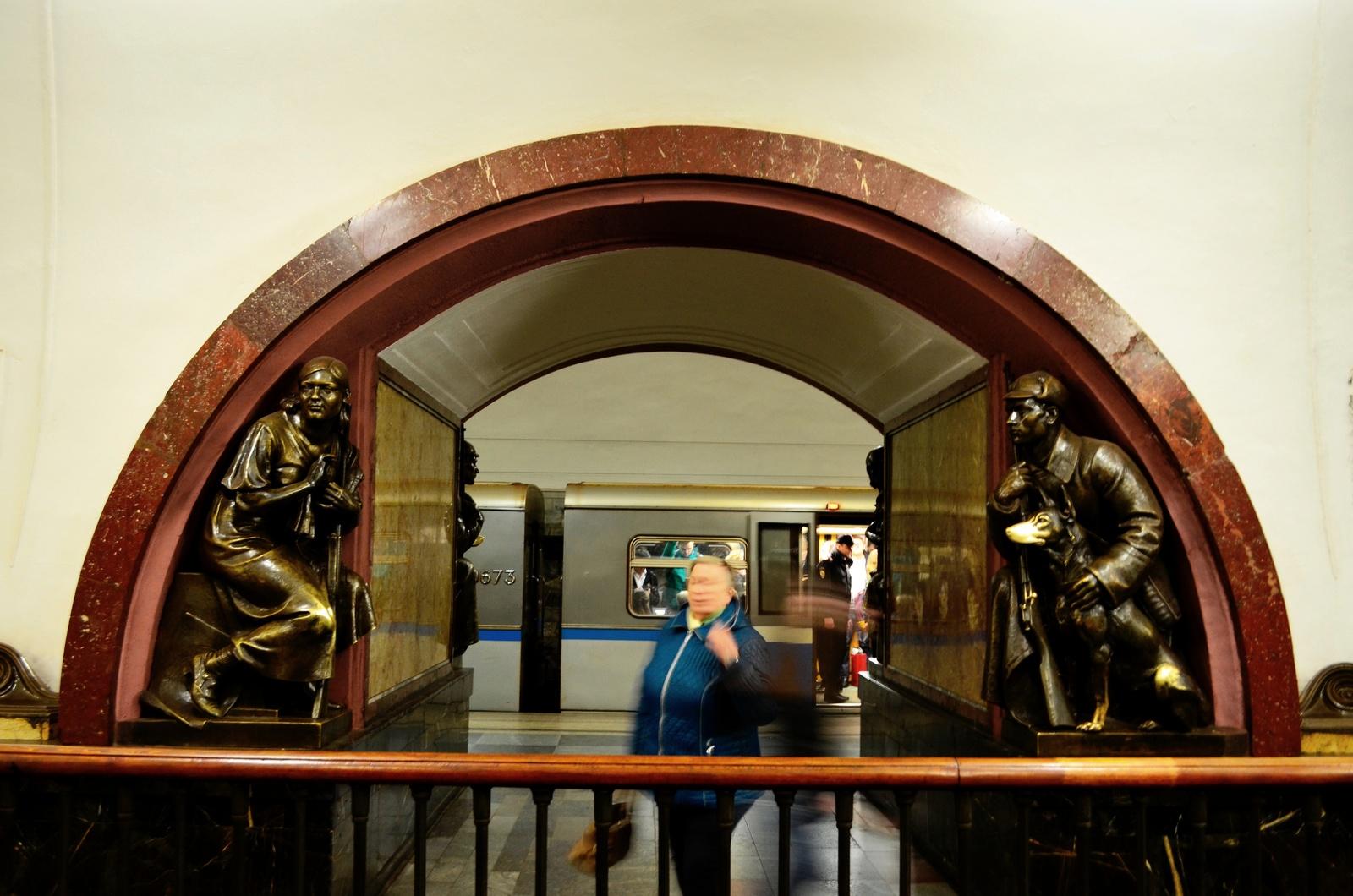 Ploshchad Revolyutsii estação Metro Moscovo Rússia - Diogo Pereira
