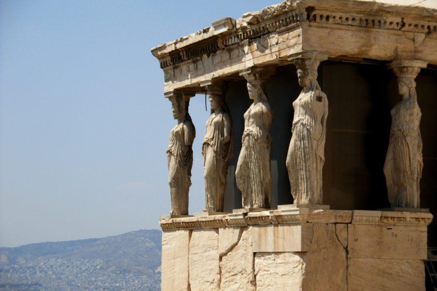Cariátides Acrópole Atenas Grécia 2 - Cláudia Paiva