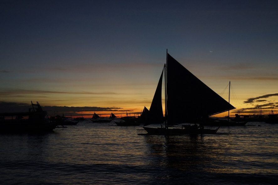 por do sol boracay filipinas