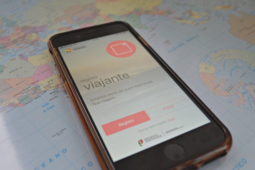 Aplicação para smartphone Registo Viajante desenvolvida pela Direção Geral dos Assuntos Consulares e Comunidades Portuguesas. Foto de Diogo Pereira
