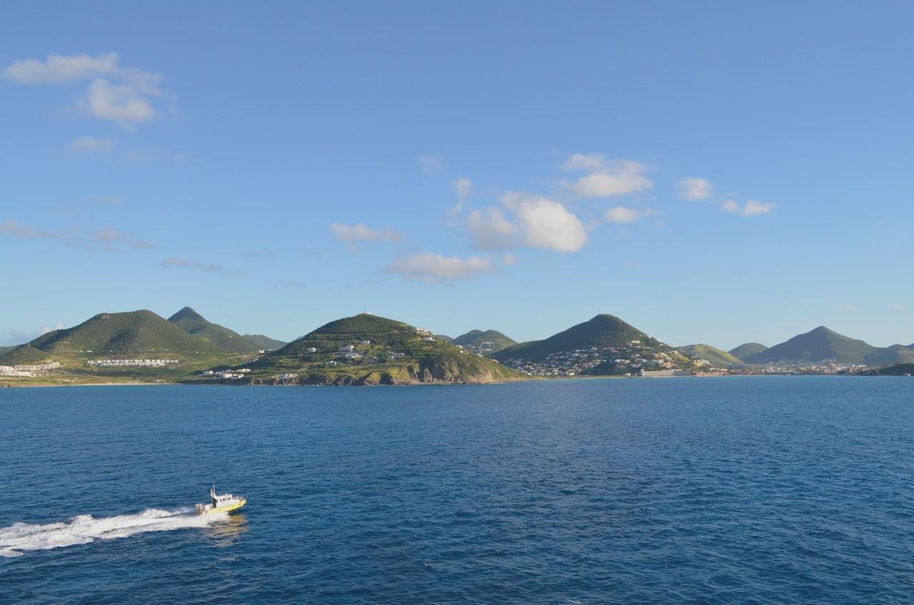 Vista a partir de um dos camarotes do Harmony of the Seas num cruzeiro pelas Caraíbas. Foto de Cláudia Paiva
