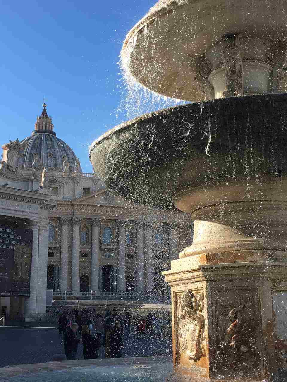 Praça de SaoPedro em Roma. Foto de Inês Marques