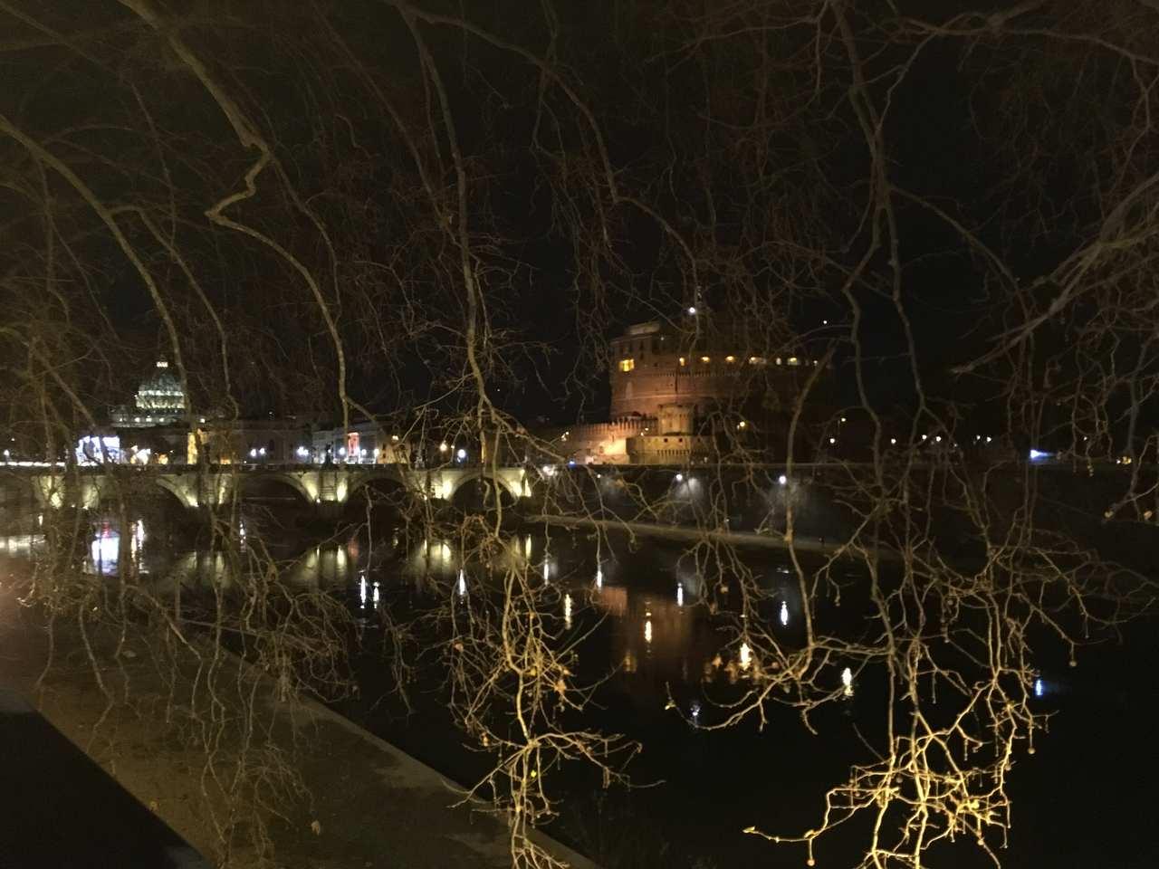 Foto nocturna em Roma. Foto de Inês Marques