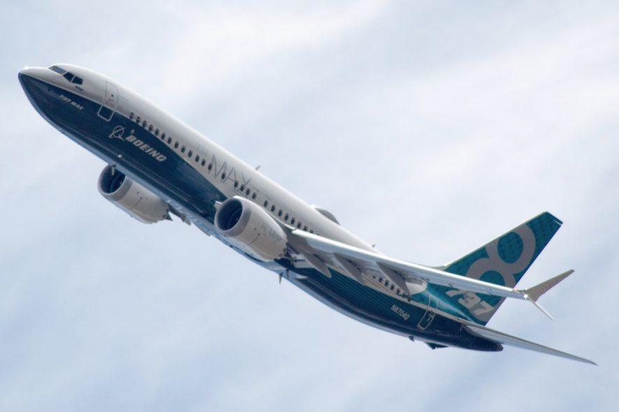 Boeing 737 max 8 em voo Foto de Wikimedia