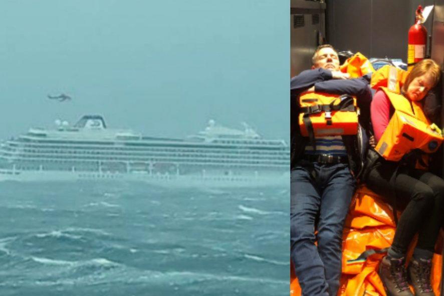 Cruzeiro à deriva ao largo da costa da Noruega com 1300 pessoas a bordo