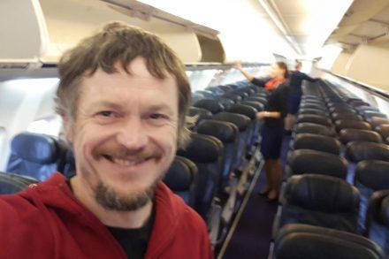 Skirmantas Strimaitis foi o único passageiro de um voo entre a Lituania e Itália