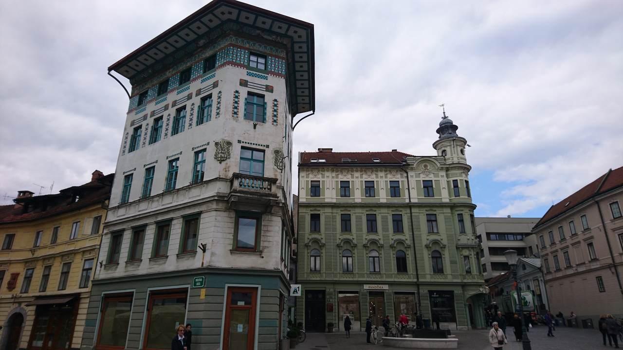 Casa Hauptmann em Ljubjiana. Foto de Marta Costa