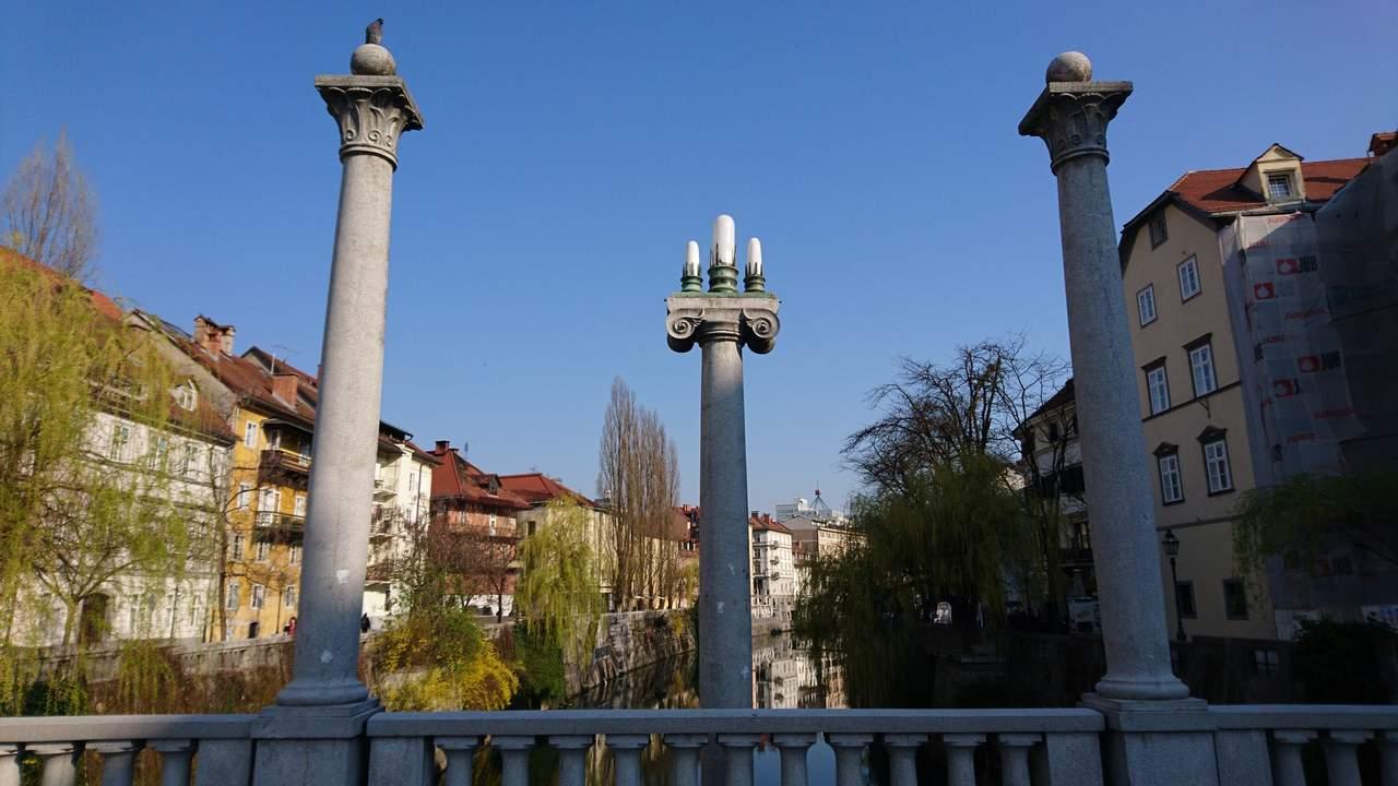 Ponte dos Sapateiros em Ljubjana. Foto de Marta Costa