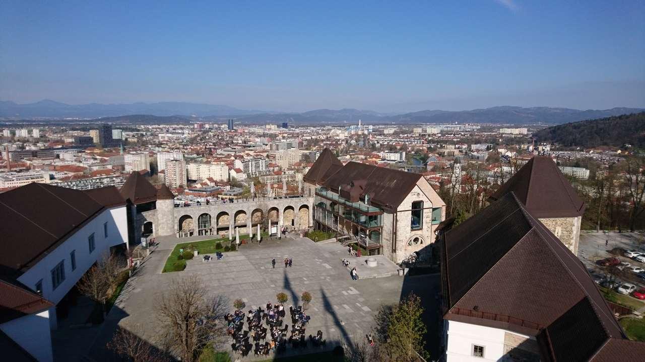 Vista a partir do Castelo de Ljubjana. Foto de Marta Costa