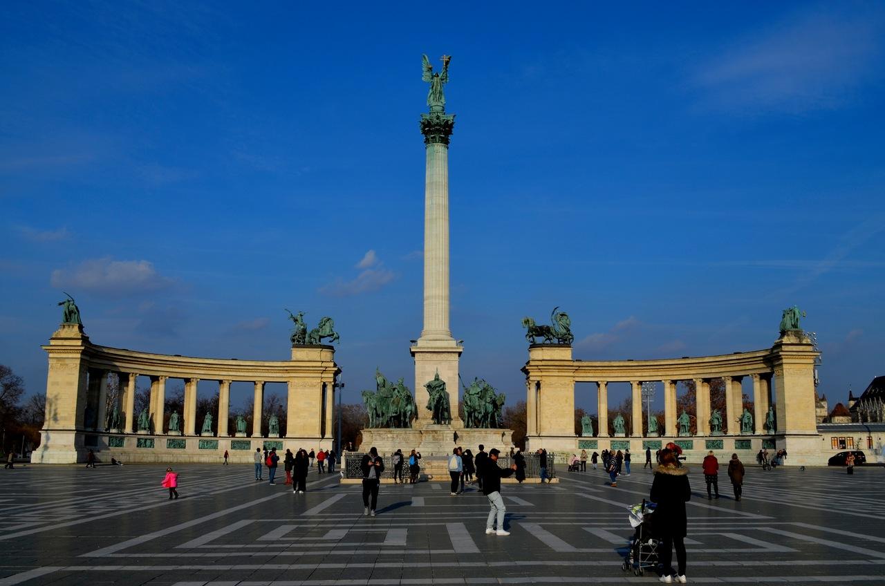 Praça dos Heróis de Budapeste, na Hungria