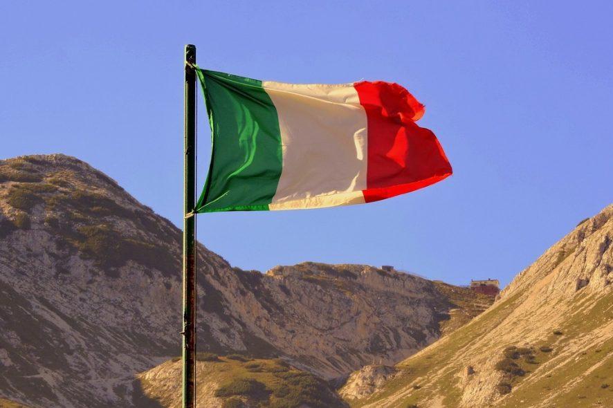 Bandeira de Itália. Foto de Pixabay