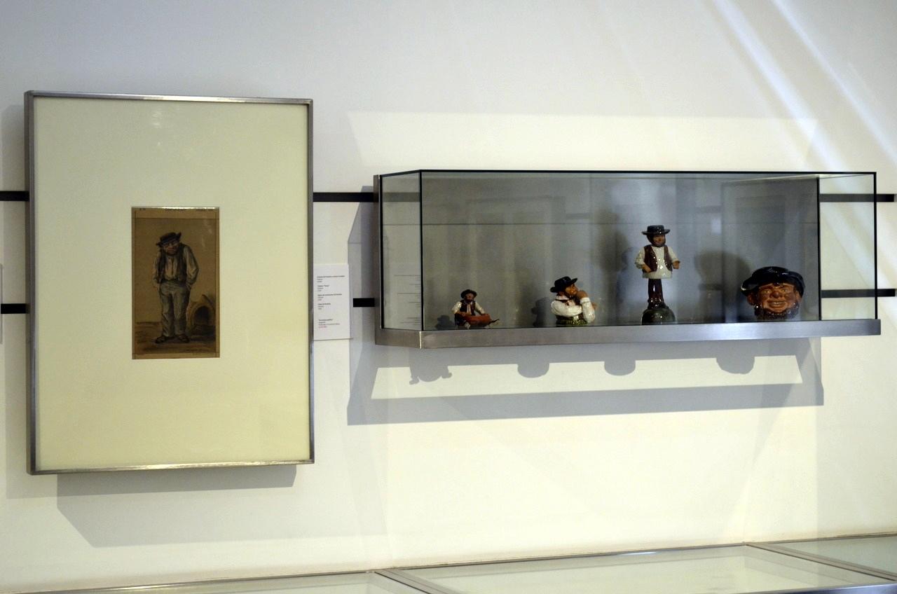 A figura de Zé Povinho criada por Bordalo pinheiro representada no Museu Bordalo Pinheiro, em Lisboa