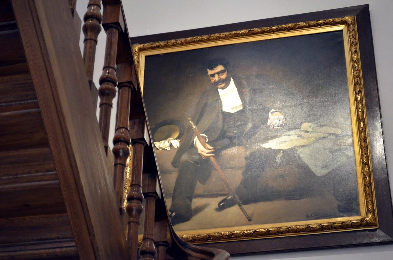 Bordalo Pinheiro representado pelo irmão Columbano, no Museu Bordalo Pinheiro, em Lisboa
