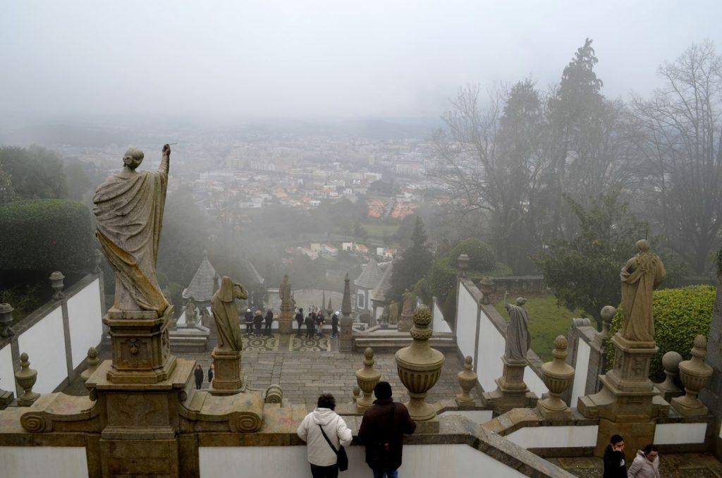 Vista de Braga a partir do Bom Jesus do Monte em Braga
