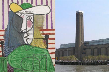 Pintura Busto de Mulher de Pablo Picasso no Tate Modern de Londres