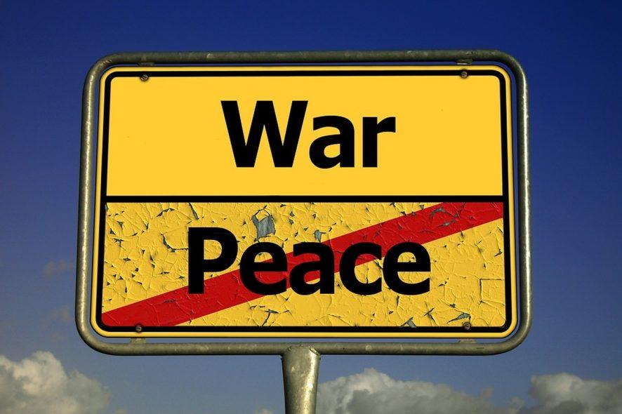 placa de guerra e paz. Foto de Pixabay