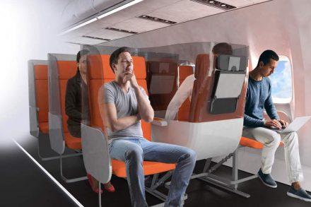 Assentos invertidos da Aviointeriores são a solução para o coronavirus