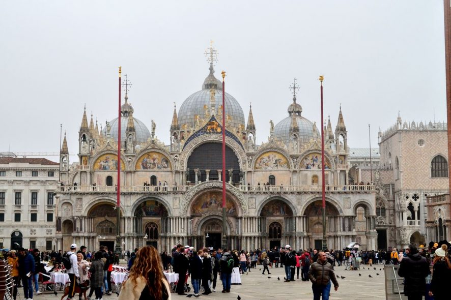 Fachada da Basílica de San Marco em Veneza
