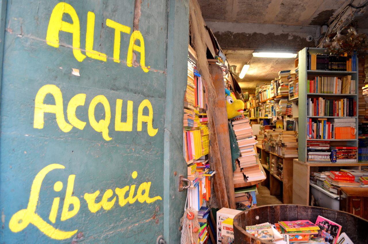 Libreria Acqua Alta de Veneza