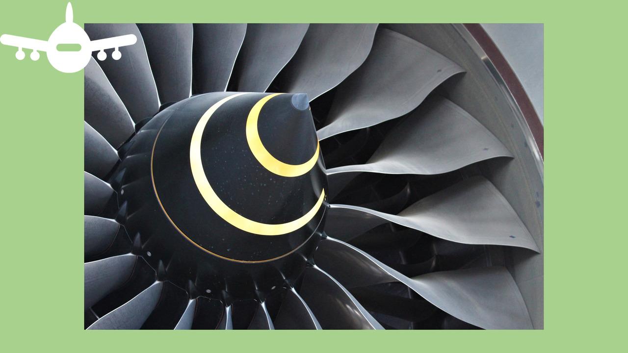 Motor de avião. Foto de pixabay