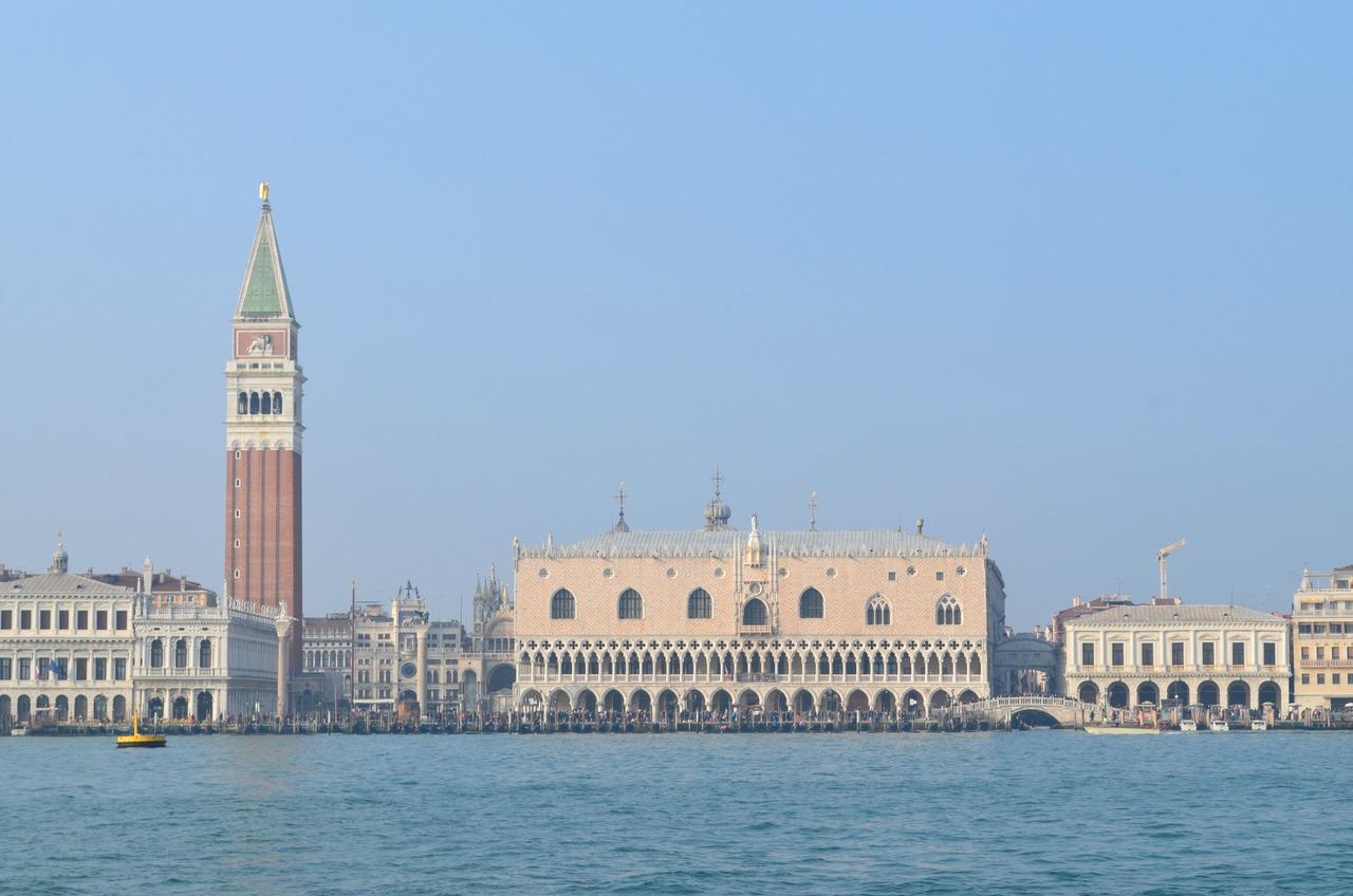 Palácio Ducal de Veneza Capanário da Basílica de San Marco e Plaza de San Marco em Veneza