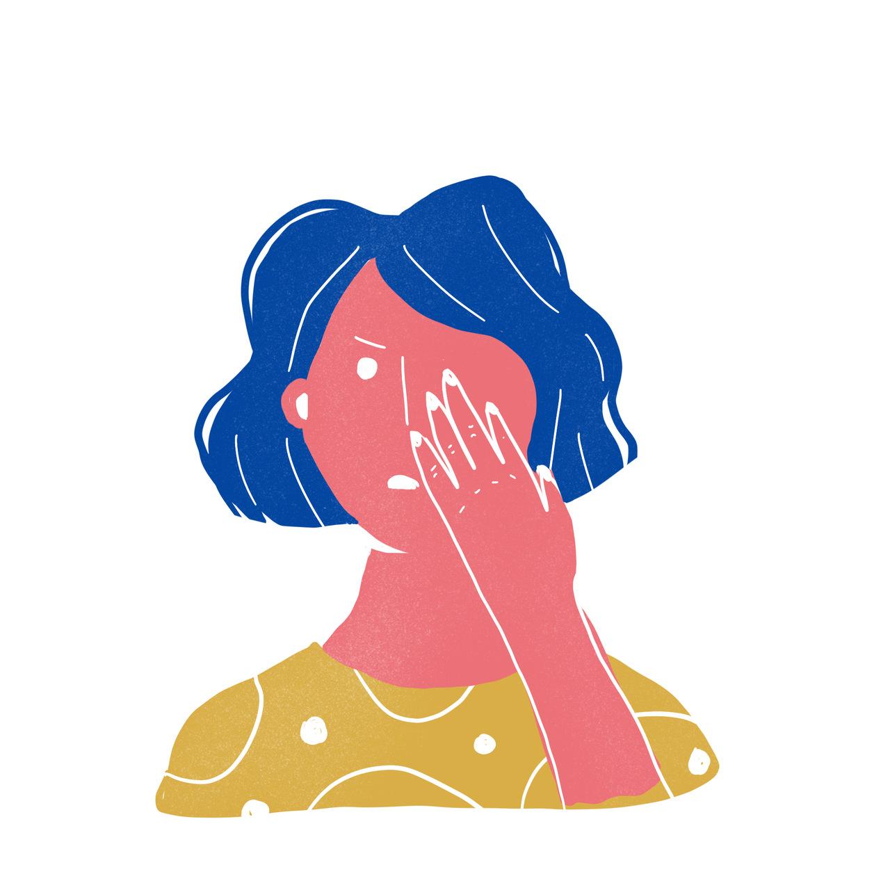 Mantenha as mãos limpas e evite tocar no rosto. Ilustração de Ana Paiva