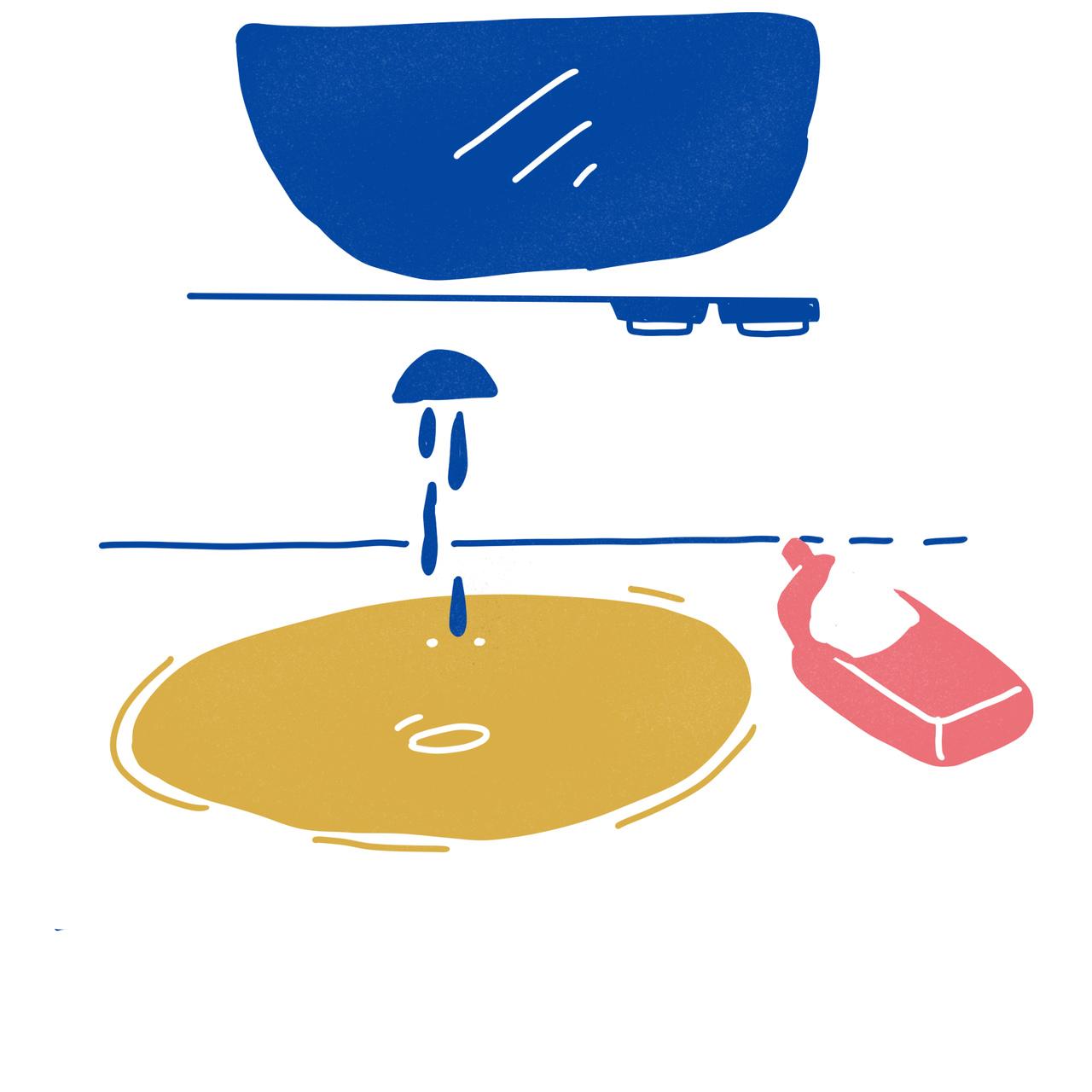 Não toque diretamente em nada quando fôr à casa de banho. Ilustração de Ana Paiva
