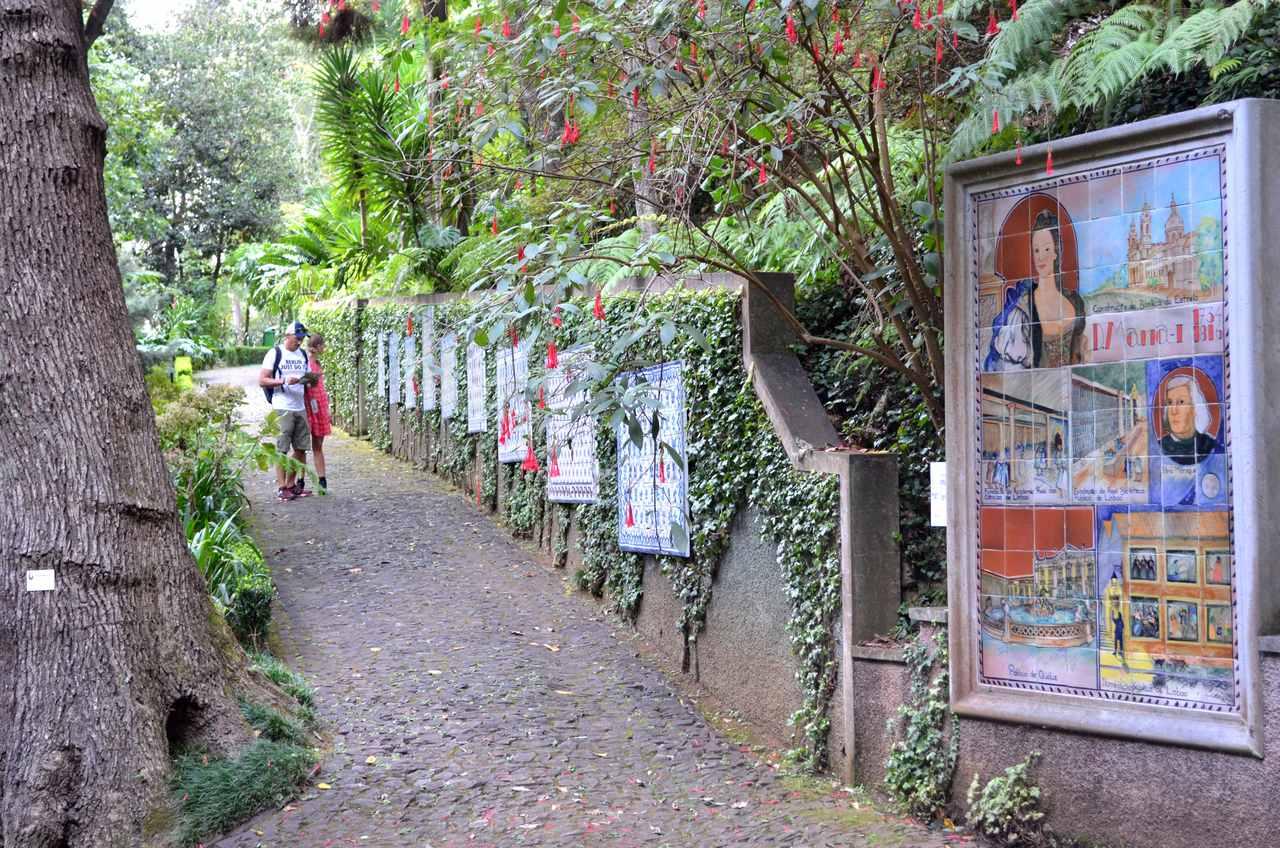 Painéis de azulejos no Jardim Tropical Monte Palace na Madeira