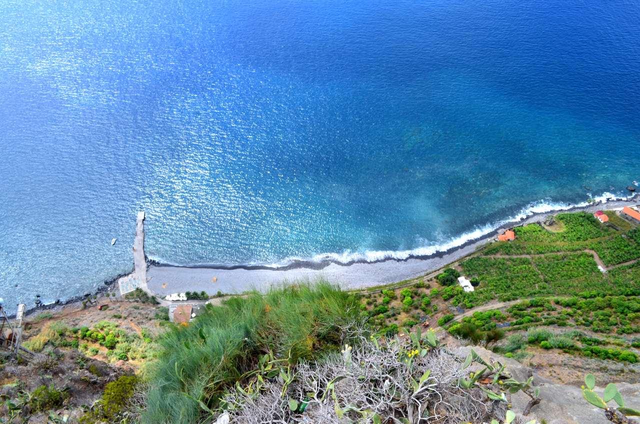 Praia da Fajã dos Padres na Madeira