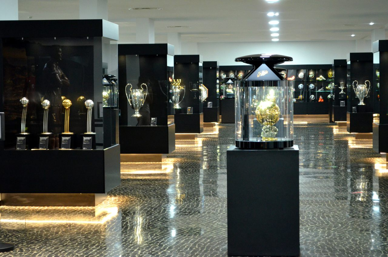 Troféus no CR7 Museu na Madeira