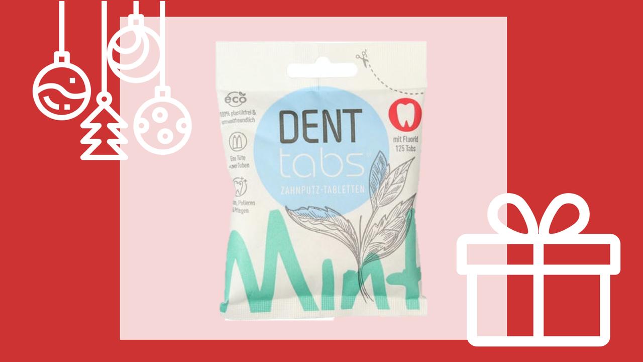 pastilhas dentífricas Denttabs prendas de natal