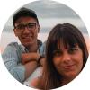 Ana e Óscar, autores do canal de Youtube Onenightat