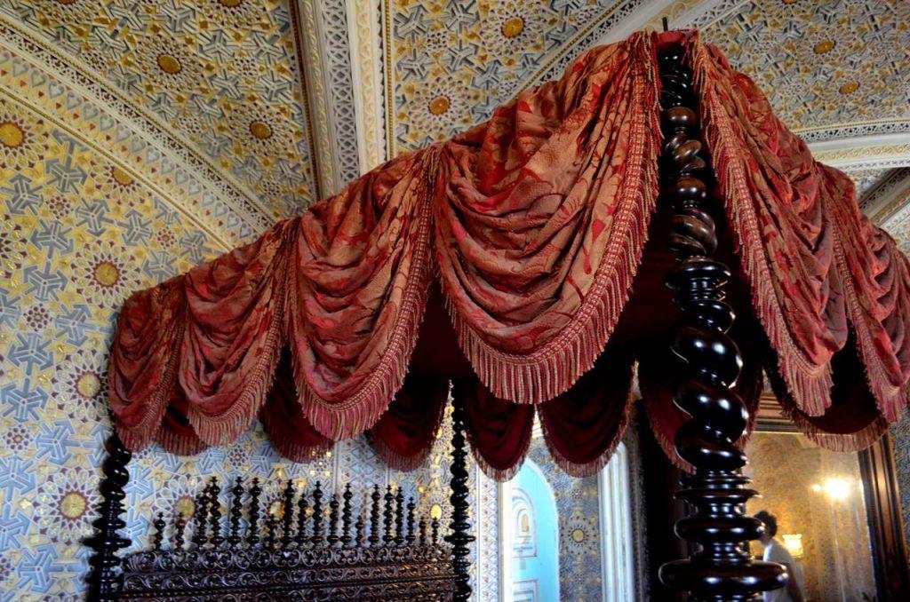 Cama no Palácio da Pena de Sintra
