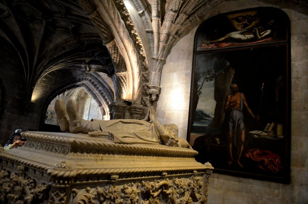 Tumulo de Vasco da Gama no Mosteiro dos Jerónimos em Lisboa