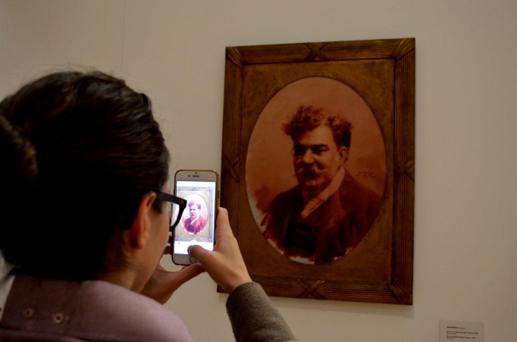 Retrato de Bordalo Pinheiro no Museu José Malhoa nas Caldas da Rainha