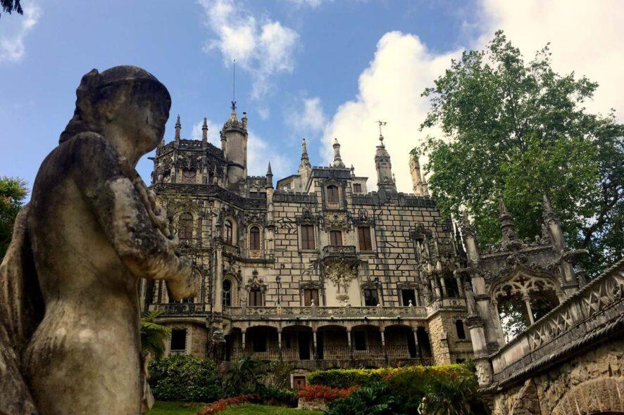 Fachada da Quinta da Regaleira em Sintra