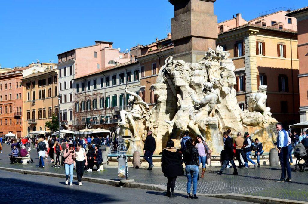 Fontes da Piazza Navona de Roma Itália