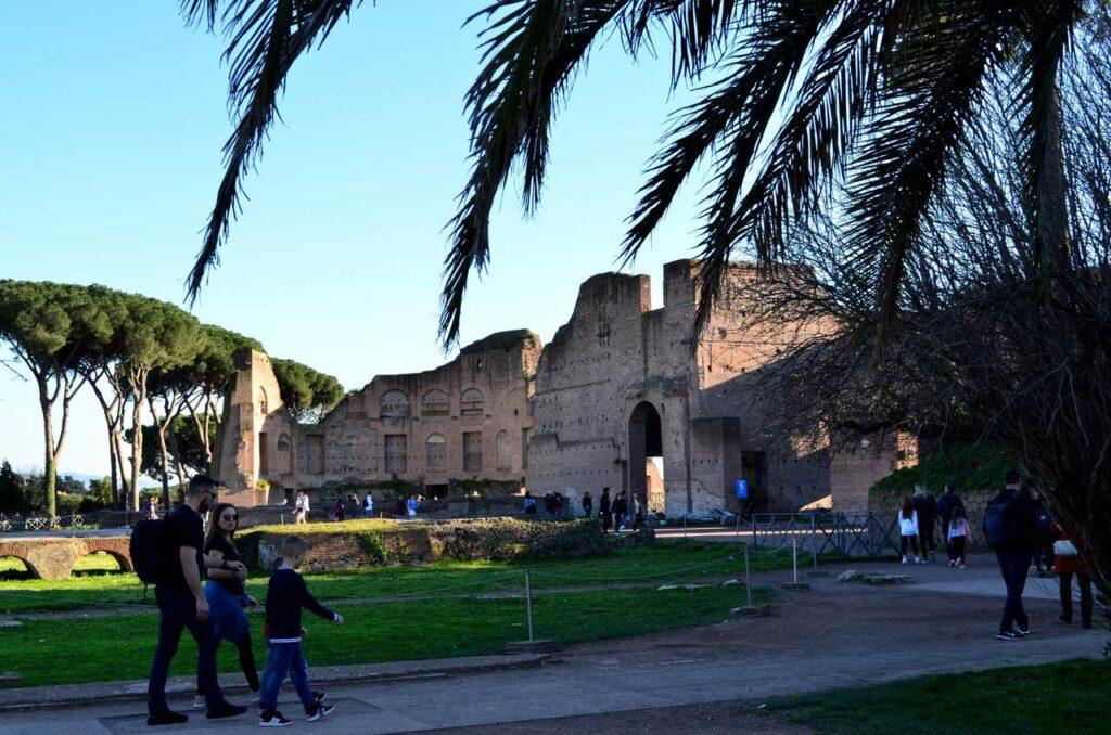 Palatino em Roma Itália