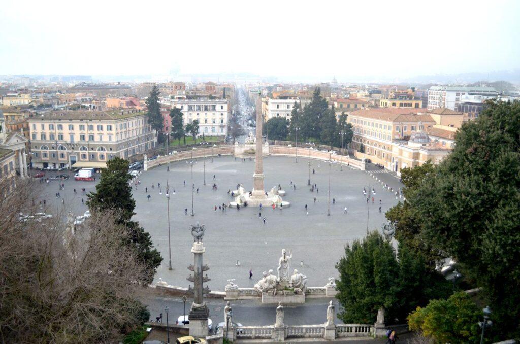 Piazza del Popolo de Roma Itália