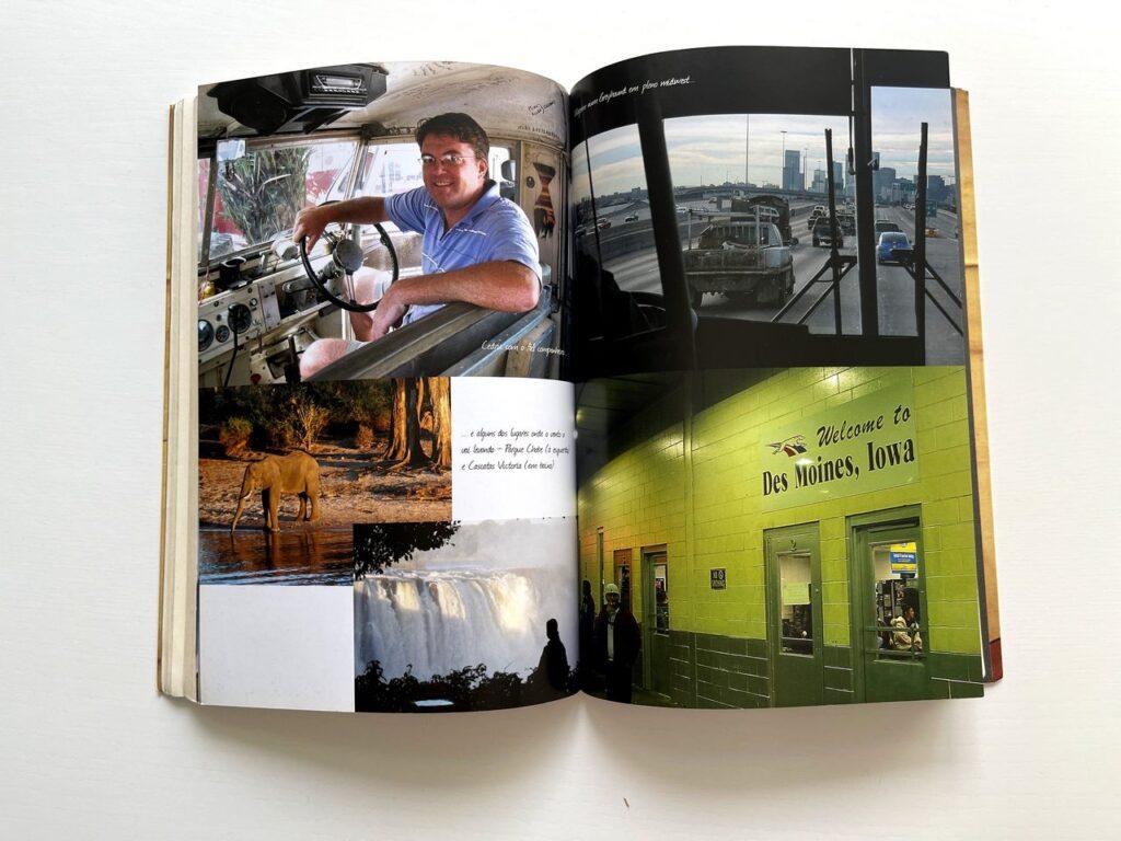 Fotografias no interior do livro Encontros Marcados de Gonçalo Cadilhe