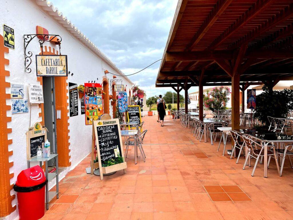 Cafetaria do Barril na Praia do Barril de Tavira