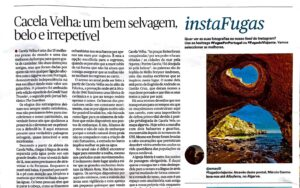 Artigo do W360.PT sobre a Praia de Cacela Velha publicado na Fugas do Público