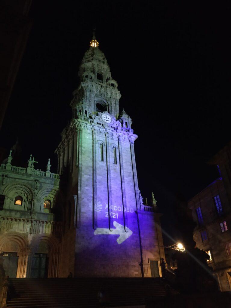 Catedral de Santiago e alusão ao ano jacobeu 2021 Caminho de Santiago