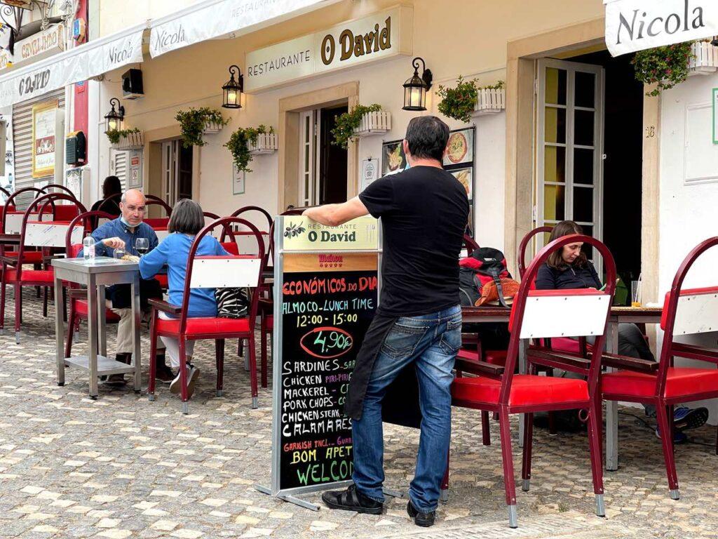Restaurante o David em Albufeira