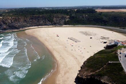 Vista aérea da Praia de Odeceixe